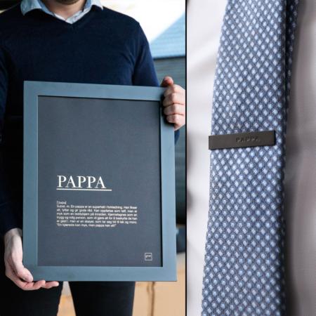 pappa slipsnål + 30x40 gull poster
