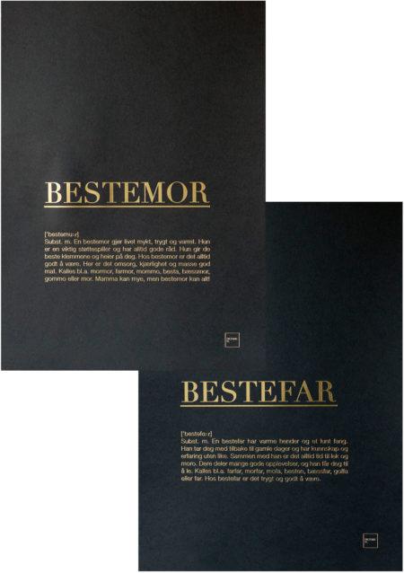 BESTEMOR + BESTEFAR GULL POSTERS SETT