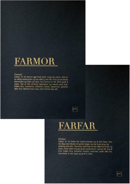 FARMOR + FARFAR gull posters sett