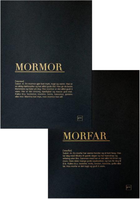 MORMOR + MORFAR GULL POSTERS SETT