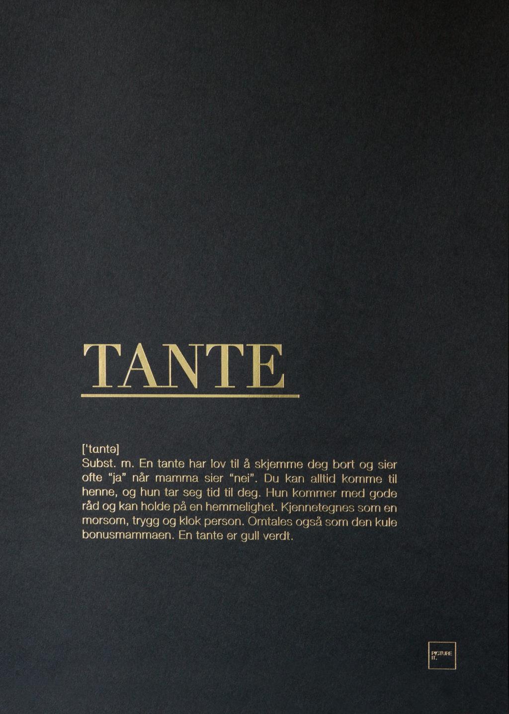 TANTE gull poster