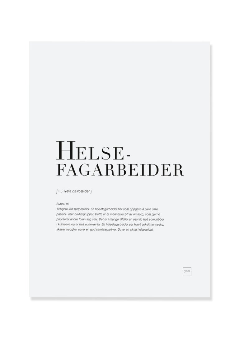 Helsefagarbeider poster