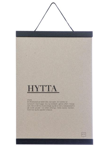 HYTTA poster A4 inkludert rammelist
