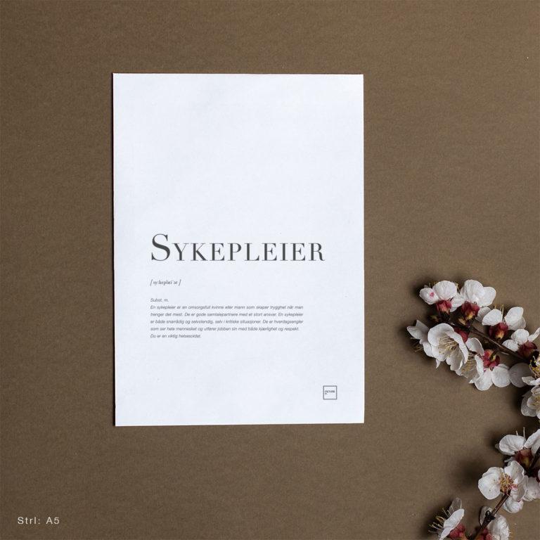 Sykepleier – A5