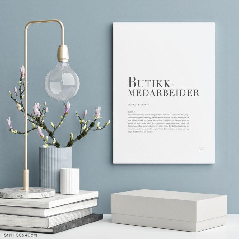 BUTIKKEMEDARBERIDER-30x40cm