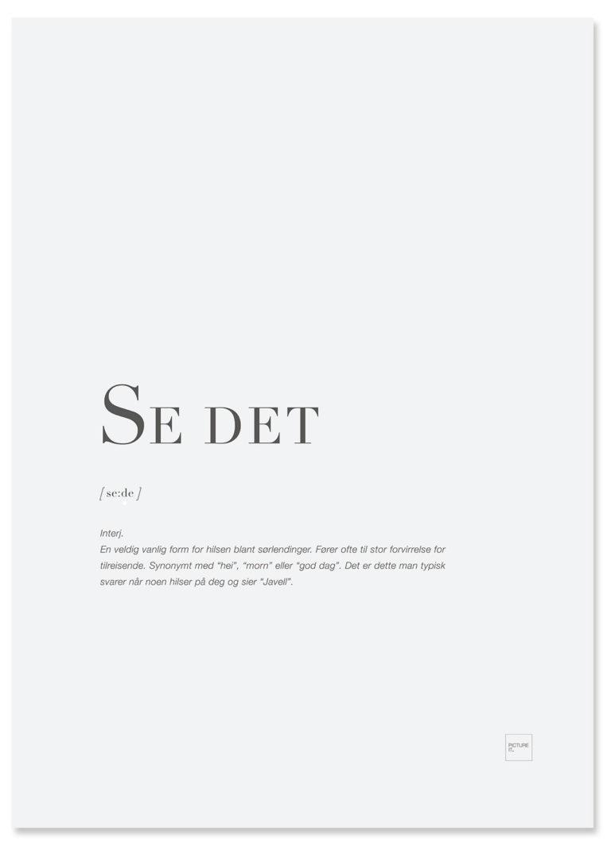 SE DET poster