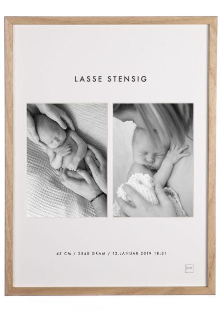 Fødselsramme med bilder av ditt barn