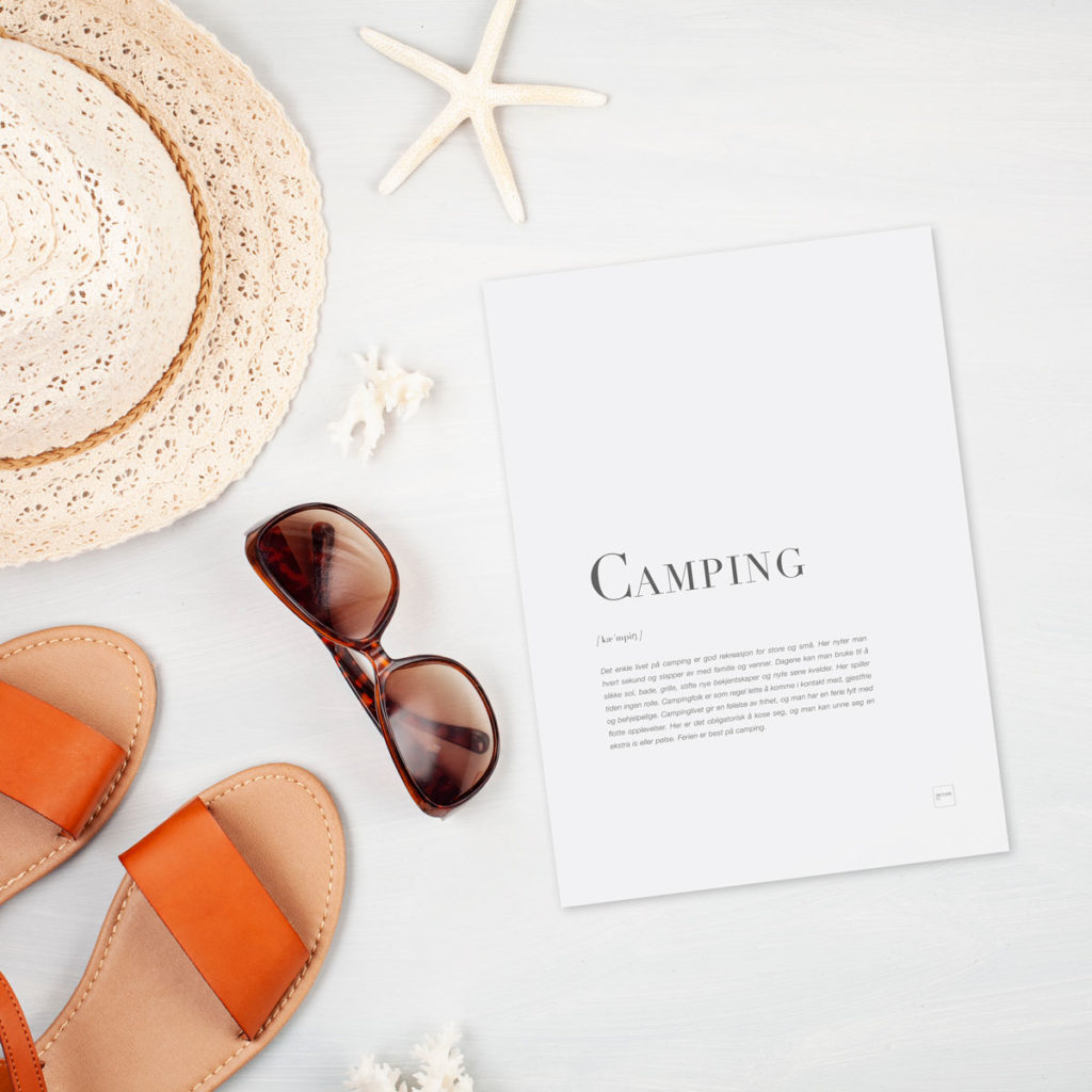 Camping kort (A5)
