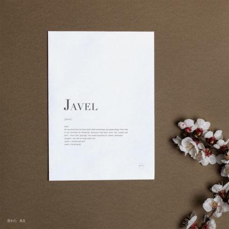 Dialekt kort - Javel