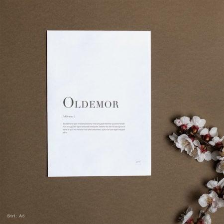 kort til oldemor