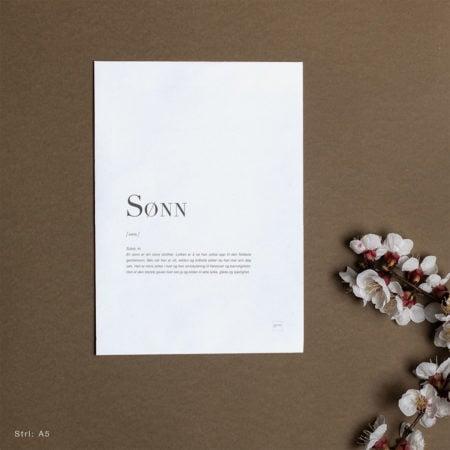 kort til sønn