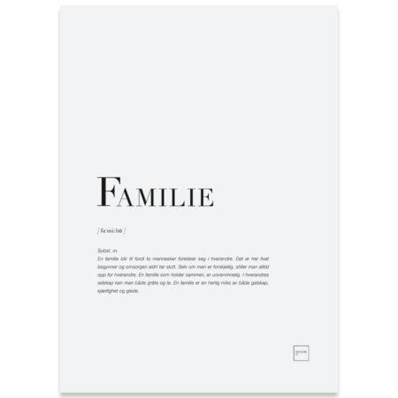 Familie kort