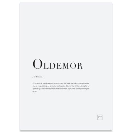 Oldemor kort