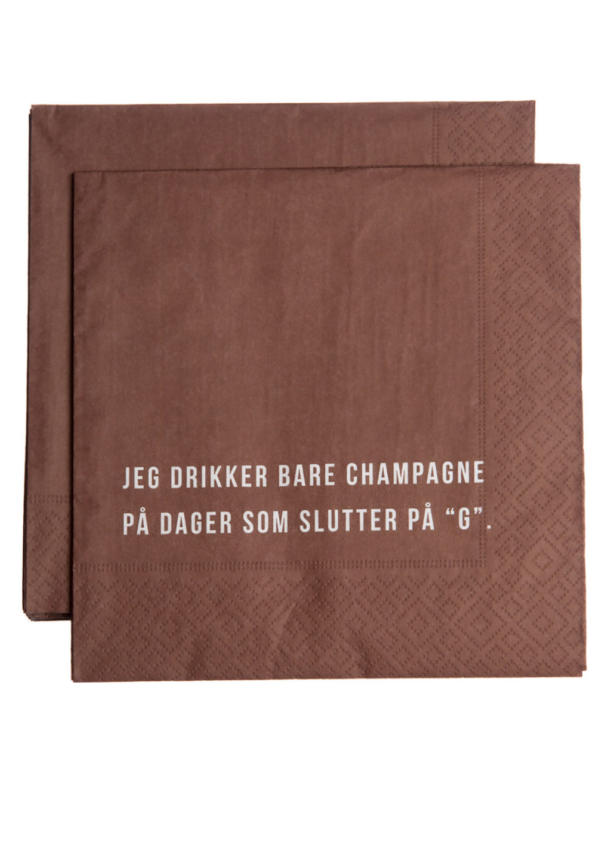 Champagne serviett 1pk