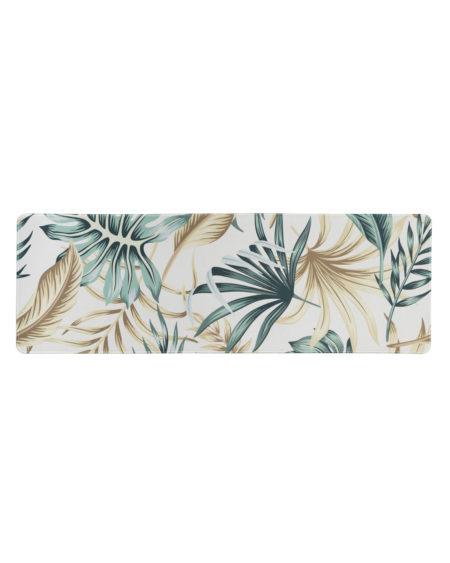 Stor musematte med palmesus mønster