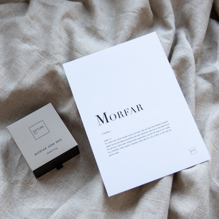 Morfar + kort