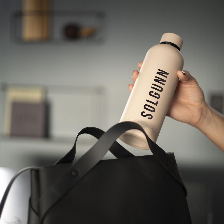 Drikkeflaske med navn Beige_2